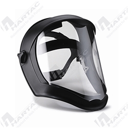 Honeywell Bionic Black Shell with Clear Uncoated Polycarbonate Face Shield & Visor