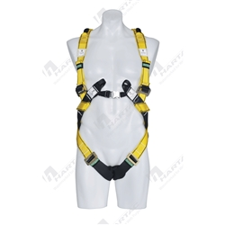 MSA Workman® Premier Harness With Adjustable Webbing Lanyard Snaphook - Size L