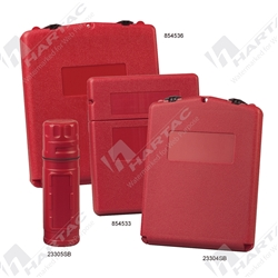 Tube Twist Lid SDS Document Storage Box - Red
