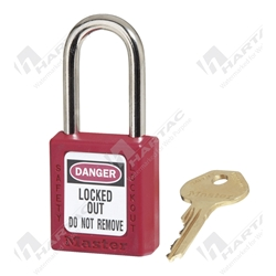 Master Lock 410 Zenex™ Safety Padlock with 38mm Shackle Clearance Keyed Different - Red