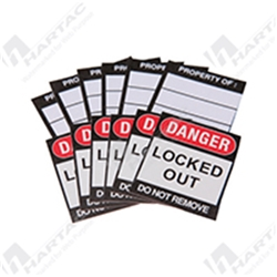"Brady Safety Padlock ""Danger Locked Out"" Labels"