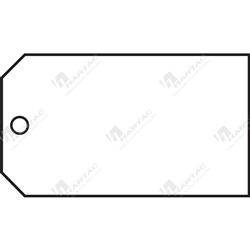 "Material Control Tag ""White (Plain)"" (Pack of 25) - 146mm x 76mm"