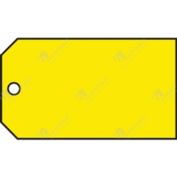 "Material Control Tag ""Yellow (Plain)"" (Pack of 25) - 146mm x 76mm"