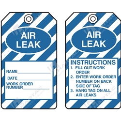 "Equipment Servicing Tag ""Air Leak"" (Pack of 5) - 85mm x 145mm"