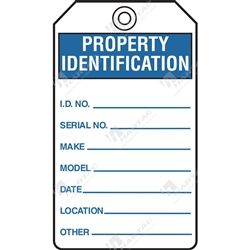 "Equipment Servicing Tag ""Property Identification"" (Pack of 5) - 85mm x 145mm"