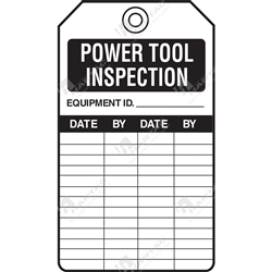 "Equipment Servicing Tag ""Power Tool Inspection"" (Pack of 5) - 85mm x 145mm"