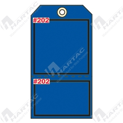 "2-Part Production Tag ""Blue (Blank)"" (Pack of 100) - 75mm x 100mm"