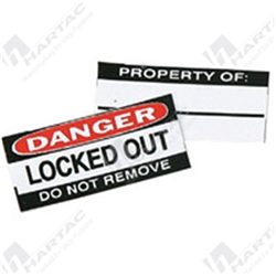 "Brady Brass Padlock ""Danger Locked Out"" Labels"