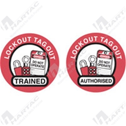 Hard Hat Label Lockout Tagout Trained
