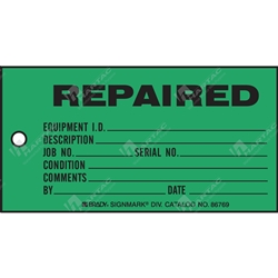 "Production Status Tag ""Repaired "" (Pack of 100) - 146mm x 76mm"