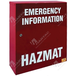 Hazmat Emergency Manifest Storage Cabinet (Powder Coated) - Red