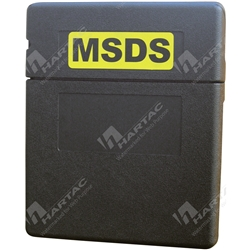 Top Opening MSDS Document Holder - Black