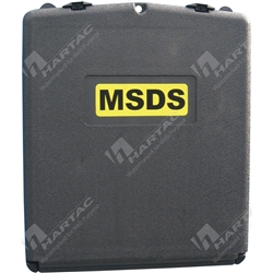 Sealed A4 Binder MSDS Document Holder (Holder Only MSDS Binder Not Included) - Black