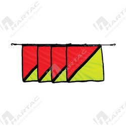 Wide Load Flag - Orange/Fluoro Yellow (Pack of 4) - 500mm x 500mm