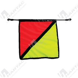 Wide Load Flag - Orange/Fluoro Yellow - 500mm x 500mm