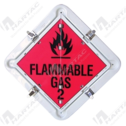 "Hazchem (Hazardous Goods Labels) ""Flip Over Dangerous Goods Placards (Contains 14 Classes)"" Metal/Plastic Non-Reflective - 350mm x 350mm"