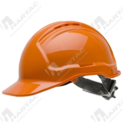 Force360 Premium Hard Hat Vented with 6 Point Pinlock Harness Ratchet Tiedown Type 1 - White