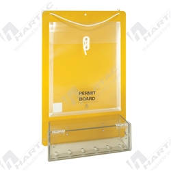 Permit Control Board with Clear Lock Box - 8 Holes For Padlocks