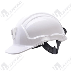 Frontier Tuffgard Unvented Miners Hard Hat with Metal Lamp Bracket -  White