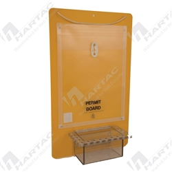 Permit Control Board with Clear Lock Box - 17 Holes For Padlocks