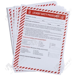 Lockout Clipboard Safety Procedure Forms