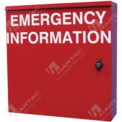Manifest Cabinet For Emergency Information - Red