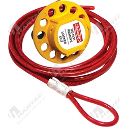 Universal Multipurpose Cable Lockout with 1.5m x 4mm PVC Coated Steel Cable