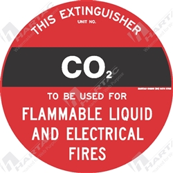 "Fire & Safety Sign ""CO2 Extinguisher"""