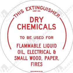 "Fire & Safety Sign ""Dry Chemicals Extinguisher"""
