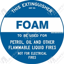 "Fire & Safety Sign ""Foam Extinguisher"""
