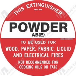 "Fire & Safety Sign ""Powder AB(E) Extinguisher"""