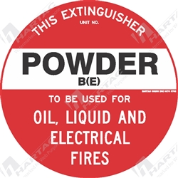 "Fire & Safety Sign ""Powder B(E) Extinguisher"""