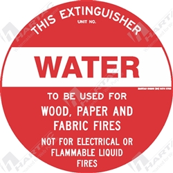 "Fire & Safety Sign ""Water Extinguisher"""