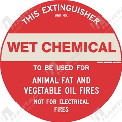 "Fire & Safety Sign ""Wet Chemical Extinguisher"""