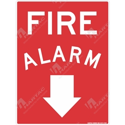 "Fire & Safety Sign ""Fire Alarm With Down Arrow"""