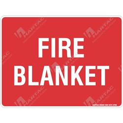 "Fire & Safety Sign ""Fire Blanket (Text Only)"""