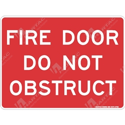 "Fire & Safety Sign ""Fire Door Do Not Obstruct (Text Only)"""