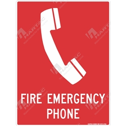 "Fire & Safety Sign ""Fire Emergency Phone"""