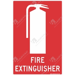 "Fire & Safety Sign ""Fire Extinguisher"""