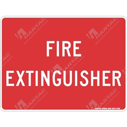 "Fire & Safety Sign ""Fire Extinguisher (Text Only)"""
