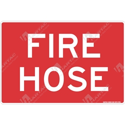 "Fire & Safety Sign ""Fire Hose (Text Only)"""