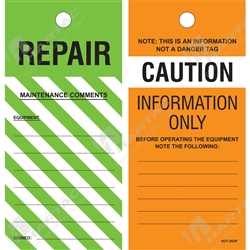 """Caution Information Only/Repair"" Tag"