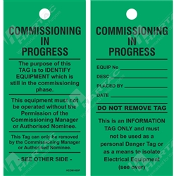 """Commissioning In Progress"" Tag"