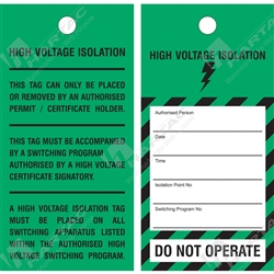 """High Voltage Isolation"" Tag"