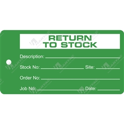 """Return to Stock"" Tag"