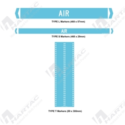 "Pipemarker ""Air"" Self-Adhesive Non-Reflective (Pack of 10)"