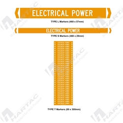 "Pipemarker ""Electrical Power"" Self-Adhesive Non-Reflective (Pack of 10)"