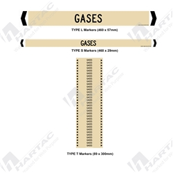"Pipemarker ""Gases"" Self-Adhesive Non-Reflective (Pack of 10)"