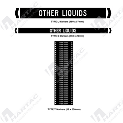"Pipemarker ""Other Liquids"" Self-Adhesive Non-Reflective (Pack of 10)"