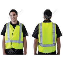 ProChoice Fluoro Yellow H Back Day/Night Use Safety Vest